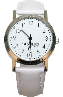 Scrub Stuff Women's Classic Leather Nurse Watch