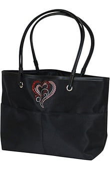 Scrub Stuff Bling Heart Tote