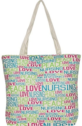 Scrub Stuff Women's Peace Love Canvas Tote Bag