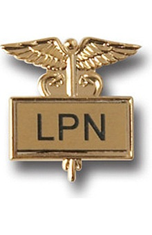 Arthur Farb LPN Gold Plated Inlaid Emblem Pin
