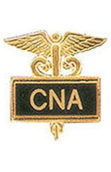 Arthur Farb CNA Gold Plated Inlaid Emblem Pin