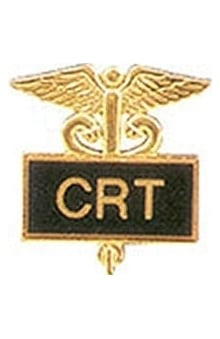 Arthur Farb CRT Gold Plated Inlaid Emblem Pin
