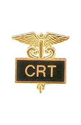 Arthur Farb CRT Gold Plated Inlaid Emblem Pin