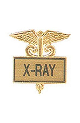 Arthur Farb X-Ray Gold Plated Inlaid Emblem Pin