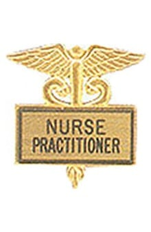 Arthur Farb Nurse Practitioner Gold Plated Inlaid Emblem Pin