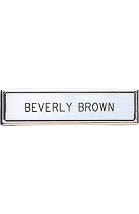 Arthur Farb Silver Or Gold Engraved Name Tags with Matching Metal Frame Pin