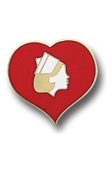 Clearance Arthur Farb Heart with Nurse Pin