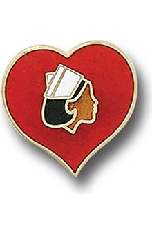 Arthur Farb Heart with Nurse Pin