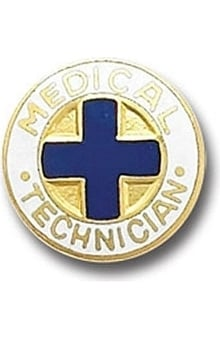 Arthur Farb Medical Technician Emblem Pin