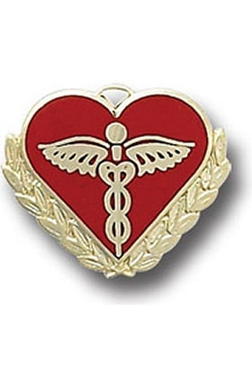 Arthur Farb Caduceus (On Heart) Pin