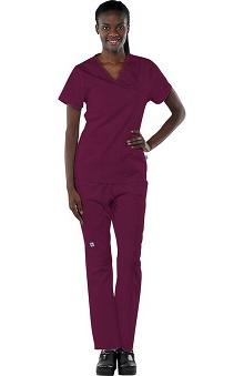 Scrubs new: Safety Weave™ Antimicrobial Basics by AFS Women's Scrub Set With Mock Wrap Top And Elastic Waist Pant