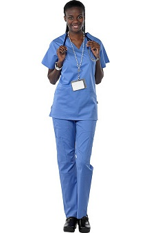Safety Weave™ Antimicrobial Stretch Classics by AFS Women's Scrub Set with Princess Seam Top And Cargo Pant