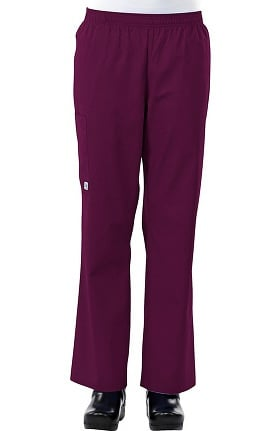 Clearance Safety Weave™ Antimicrobial Basics by AFS Women's Elastic Waist Scrub Pants
