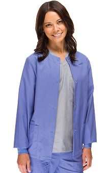 Safety Weave Antimicrobial Basics by AFS Women's Knit Cuff Scrub Jacket
