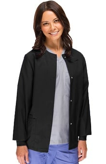 Clearance Safety Weave Antimicrobial Basics by AFS Women's Knit Cuff Scrub Jacket