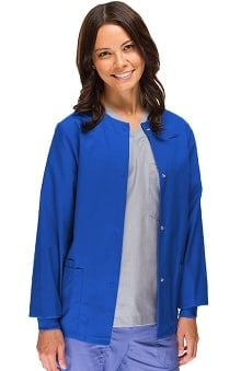 Clearance Safety Weave Antimicrobial Stretch Classics by AFS Women's Knit Cuff Scrub Jacket
