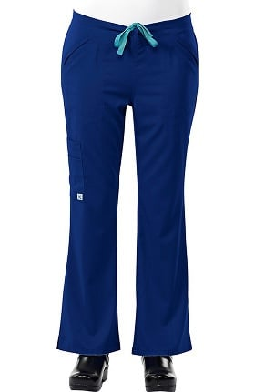 Clearance Safety Weave™ Antimicrobial Stretch Luxe by AFS Women's Flare Leg Scrub Pants