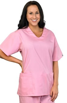 Scrubs new: AFS Women's Antimicrobial V-Neck 2 Pocket Scrub Top