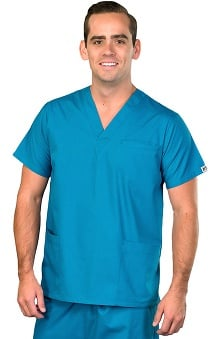Clearance AFS Men's Antimicrobial V-Neck 3 Pocket Scrub Top