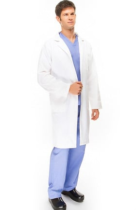 "Basics by allheart Men's Twill 38"" Lab Coat"
