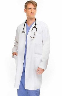 "allheart Basics Men's Belted Back Twill 41¼"" Lab Coat"