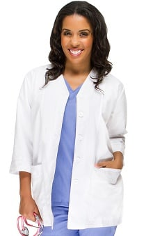 "allheart Basics Women's ¾ Sleeve 29"" Lab Coat"