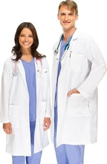 "unisex lab coat: allheart Scrub Basics Unisex  41"" Lab Coat"