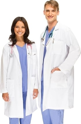 "allheart Basics Unisex  41"" Lab Coat"