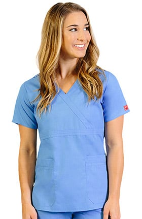 Ascent Women's Mock Wrap Solid Scrub Top