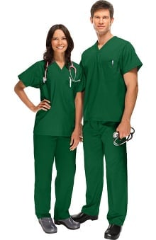 general hospital scrubs: allheart Scrub Basics Unisex Scrub Set