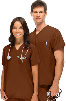 cna uniforms: allheart Scrub Basics Unisex Solid Scrub Top