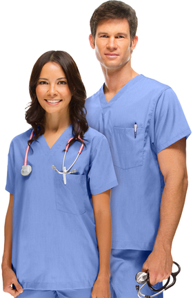 allheart Basics Unisex V-Neck Solid Scrub Top
