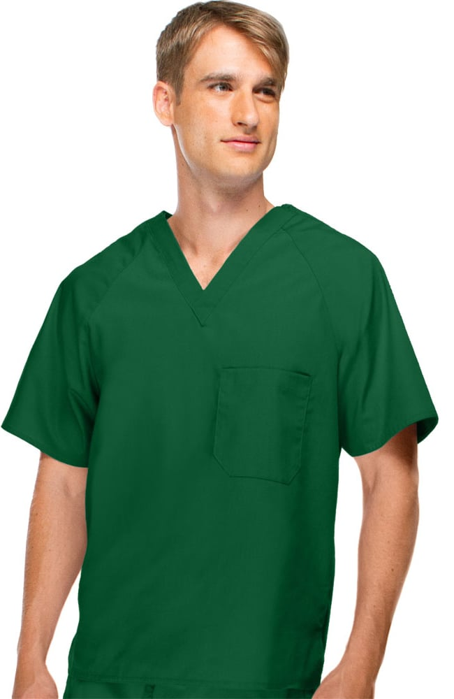 """WonderWink Origins This sturdy top from WonderWink will quickly become one of your """"go-to"""" tops! The WonderWink Alpha unisex scrub top is an affordable and stylish top that is made of a comfy blend of polyester and cotton that is built to last."""