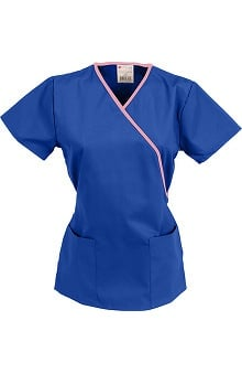 general hospital scrubs: allheart  Scrub Classics Women's Contrast Wrap Solid Top
