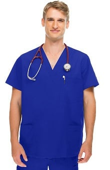 allheart Classics Men's 5 Pocket Scrub Top