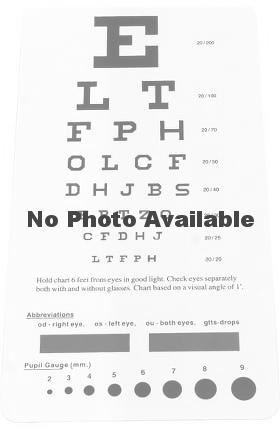 allheart Snellen Pocket Eye Chart