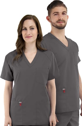 elate Unisex V-Neck Solid Scrub Top