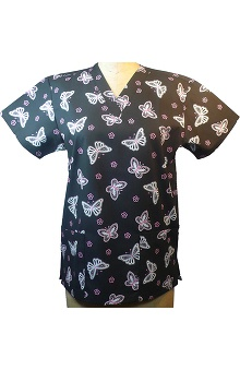 Clearance allheart Basics Women's V-Neck Butterfly Print Top