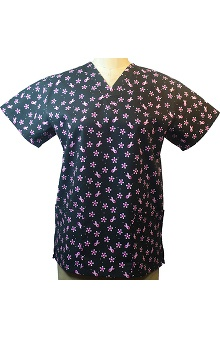 Clearance allheart Basics Women's V-Neck Garden Dance Ribbons Print Top