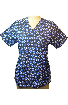 Clearance allheart Basics Women's Mock Wrap Follow The Dots Print Top