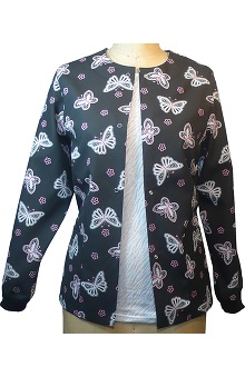 Clearance allheart Basics Women's Country Butterfly Fuchsia Print Jacket