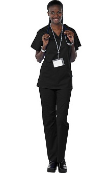 Clearance Avenue Scrubs Women's Antimicrobial Princess Seam Top & Cargo Pant Scrub Set