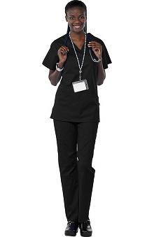 Clearance Avenue Scrubs Women's Antimicrobial Princess Seam Top & Cargo Pant Scrub Set