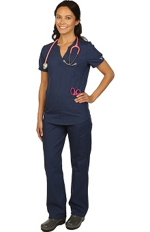 allheart proheart Basics Protected by VESTEX® Women's Scrub Set with Mock Top and 2-Pocket Pant