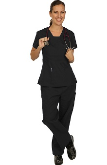 allheart proheart Basics Protected by VESTEX® Women's Scrub Set with V-Neck Top and 2-Pocket Pant