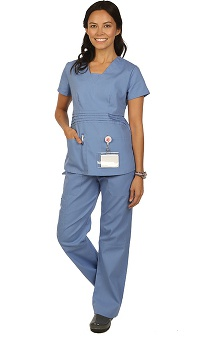 allheart proheart Basics Protected by VESTEX® Women's Scrub Set with V-Neck Top and Cargo Pant