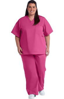Clearance Allstar Uniforms Unisex V-Neck Top & Drawstring Pant Scrub Set