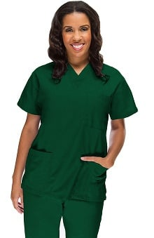 Allstar Uniforms Women's V-Neck 3 Pocket Scrub Top