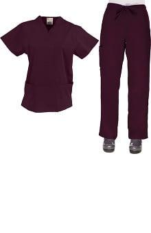 unisex scrub sets: Allstar Uniforms Unisex V-Neck & Cargo Scrub Set