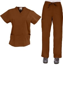 Allstar Uniforms Womens V-Neck & Cargo Scrub Set
